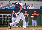 12 March 2014: Houston Astros designated hitter Jesus Guzman in action during a Spring Training game against the Washington Nationals at Osceola County Stadium in Kissimmee, Florida. The Astros rallied in the bottom of the 9th to edge out the Nationals 10-9 in Grapefruit League play. Mandatory Credit: Ed Wolfstein Photo *** RAW (NEF) Image File Available ***