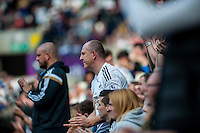 Fans during the Barclays Premier League match between Swansea City and Manchester City played at the Liberty Stadium, Swansea on the 15th of May  2016