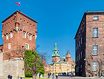 Widok na Katedrę. Zamek Krolewski na Wawelu.<br /> Wawel Castle in Cracow,