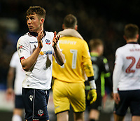 Bolton Wanderers' Chris Long applauds fans after the game<br /> <br /> Photographer Alex Dodd/CameraSport<br /> <br /> The EFL Sky Bet League One - Bolton Wanderers v Bury - Tuesday 18th April 2017 - Macron Stadium - Bolton<br /> <br /> World Copyright &copy; 2017 CameraSport. All rights reserved. 43 Linden Ave. Countesthorpe. Leicester. England. LE8 5PG - Tel: +44 (0) 116 277 4147 - admin@camerasport.com - www.camerasport.com