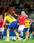 Cecilia Pedersen, QF, Sweden-Norway, Women's EURO 2009 in Finland, 09042009, Helsinki Football Stadium.