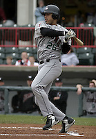 May 10, 2004:  Catcher Ronny Paulino of the Altoona Curve, Double-A affiliate of the Pittsburgh Pirates, during a game at Jerry Uht Park in Erie, PA.  Photo by:  Mike Janes/Four Seam Images