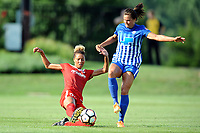 Boyds, MD - Saturday August 12, 2017: Estelle Johnson, Katie Stengel during a regular season National Women's Soccer League (NWSL) match between the Washington Spirit and The Boston Breakers at Maureen Hendricks Field, Maryland SoccerPlex.