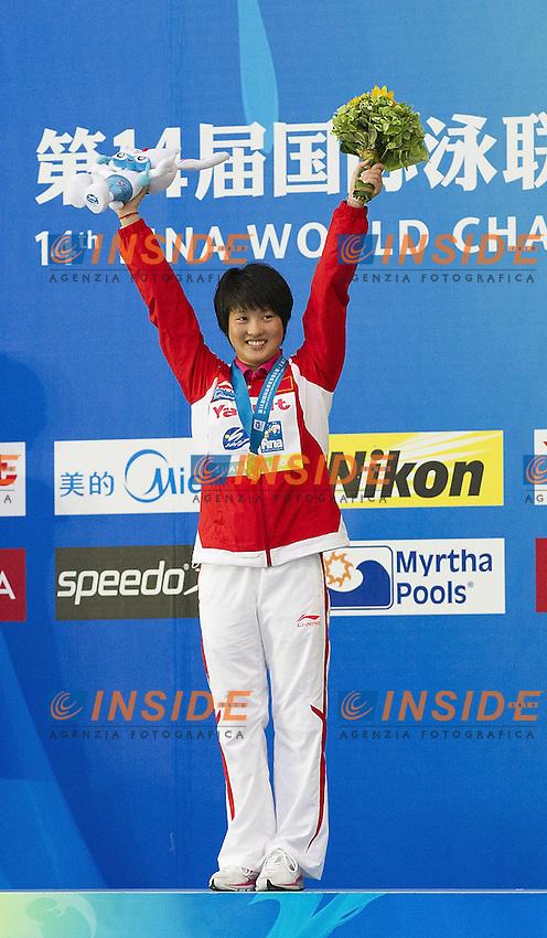 Shanghai ,  (CHN) 16-31 July 2001.XIV FINA Swimming World Championships.day 06.Women 10m Platform.Final.CHEN Roulin CHN.Gold Medal..Photo Insidefoto / Giorgio Scala