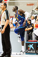 Spain's basketball player Ilimane Diop during the first match of the preparation for the Rio Olympic Game at Coliseum Burgos. July 12, 2016. (ALTERPHOTOS/BorjaB.Hojas)