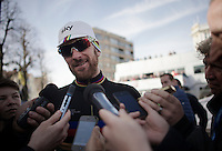 an joyous, accessible stage winner in his very last TT as World Champion: Sir Bradley Wiggins (GBR/Sky)<br /> <br /> 3 Days of De Panne 2015<br /> stage 3b: De Panne-De Panne TT