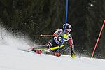 10.03.2018, Ofterschwanger Horn, Ofterschwang, GER, Slalom Weltcup in Ofterschwang, im Bild Erin Mielzynski (CAN, #10)<br /> <br /> Foto &copy; nordphoto / Hafner