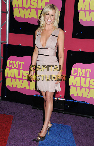 Kellie Pickler.2012 CMT Music Awards held at Bridgestone Arena, Nashville, Tennessee, USA..June 6th, 2012.full length beige pink dress low cut neckline cleavage .CAP/ADM/LF.©Laura Farr/AdMedia/Capital Pictures.