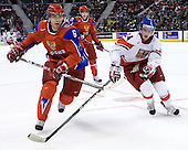 Mikhail Pashnin (Russia - 6), Jan Eberle (Czech Republic - 24) - Russia defeated the Czech Republic 5-1 on Friday, January 2, 2009, at Scotiabank Place in Kanata (Ottawa), Ontario, during the 2009 World Junior Championship.