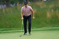Justin Rose (ENG) on the 5th green during the 2nd round at the PGA Championship 2019, Beth Page Black, New York, USA. 18/05/2019.<br /> Picture Fran Caffrey / Golffile.ie<br /> <br /> All photo usage must carry mandatory copyright credit (&copy; Golffile | Fran Caffrey)