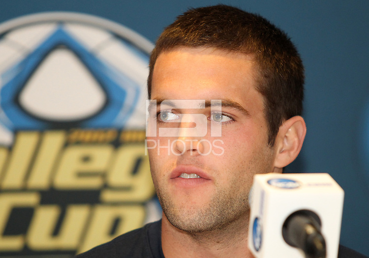 HOOVER, AL - DECEMBER 08, 2012:    Tommy Muller of Georgetown University at a news conference before the NCAA 2012 Men's College Cup final , at Regions Park, in Hoover , AL, on Friday, December 07, 2012.