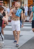 **ALL ROUND PICTURES FROM SOLARPIX.COM**<br /> **SOLARPIX RIGHTS - UK, AUSTRALIA, DENMARK, PORTUGAL, S. AFRICA, SPAIN &amp; DUBAI (U.A.E) &amp; ASIA (EXCLUDING JAPAN) ONLY**<br /> Caption:<br /> Irish Cage fighter Conor McGregor Sighted in Los Angeles ahead of his fight with Floyd Mayweather.<br /> This pic:Conor McGregor<br /> **UK ONLINE USAGE FEE 1st PIC-&pound;40, 2nd PIC-&pound;20, THEN &pound;10 PER PIC INCLUDING VIDEO GRABS. - NO PRICE CAP - VIDEO &pound;50**<br /> JOB REF:20266   PHZ/STPR  DATE:10.07.17<br /> **MUST CREDIT SOLARPIX.COM AS CONDITION OF PUBLICATION**<br /> **CALL US ON: +34 952 811 768**