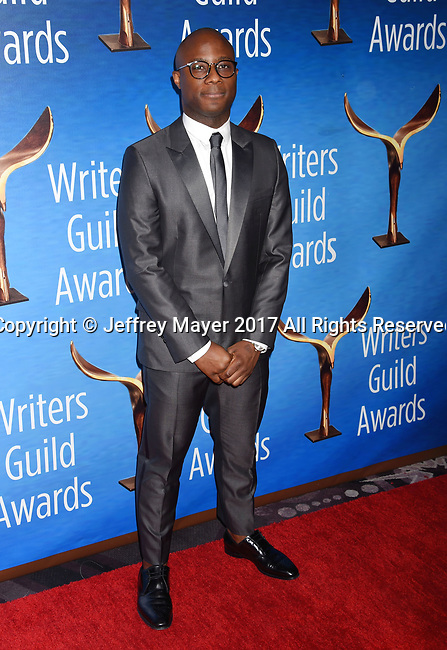 BEVERLY HILLS, CA - FEBRUARY 19: Filmmaker Barry Jenkins attends the 2017 Writers Guild Awards L.A. Ceremony at The Beverly Hilton Hotel on February 19, 2017 in Beverly Hills, California.