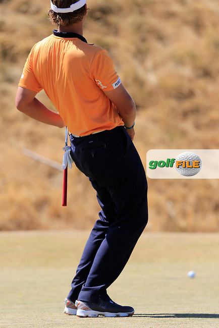 Joost LUITEN (NED) misses his putt on the 6th green during Sunday's Final Round of the 2015 U.S. Open 115th National Championship held at Chambers Bay, Seattle, Washington, USA. 6/21/2015.<br /> Picture: Golffile | Eoin Clarke<br /> <br /> <br /> <br /> <br /> All photo usage must carry mandatory copyright credit (&copy; Golffile | Eoin Clarke)