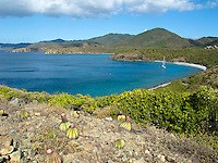 Ram Head hike looking west towards Salt Pond Bay.St. John, U.S. Virgin Islands