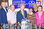 MINI MARATHON: Launching the Kerry 10k mini marathon in aid of the Carers Association on Friday were l-r: William Barry (carer), Jim McAuliffe (carer), acting Lord Mayor Mairead Fernane, Karen Gearon (Tralee centre manager), Jim Gorman (sports editor Kerry Eye's) and Catherine McAuliffe (carer).