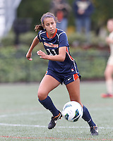 Pepperdine University forward Callie Payetta (11) at midfield. Pepperdine University defeated Boston College,1-0, at Soldiers Field Soccer Stadium, on September 29, 2012.