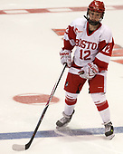 Victoria Bach (BU - 12) - The Boston College Eagles defeated the Boston University Terriers 3-2 in the first round of the Beanpot on Monday, January 31, 2017, at Matthews Arena in Boston, Massachusetts.