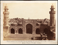 BNPS.co.uk (01202 558833)<br /> Pic: Bonhams/BNPS<br /> <br /> Wazir Khan mosque in Lahore.<br /> <br /> Plain tales from the Punjab - unseen archive of Indian photographs compiled by Rudyard Kiplings father revealed.<br /> <br /> A remarkable photo album compiled by John Lockwood Kipling documenting his time in Northern India in the late 19th century has emerged for sale for &pound;150,000.<br /> <br /> Lockwood, father of the celebrated writer Rudyard, lived in India between 1865 and 1893.<br /> <br /> An acclaimed artist in his own right, he took numerous eye-catching snaps of glorious monuments and bustling street scenes around Lahore, the Punjab and Amritsar.<br /> <br /> The photos date from around 1888, when he was working at the Mayo Art school in Lahore and as curator at the Lahore Museum.<br /> <br /> At that time his son Rudyard was a little known cub reporter for the Pioneer newspaper in Allahabad ,who was just about to publish 'Plain tales from the Hills', launching his literary career.