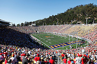The Ohio State Buckeyes kickoff to the California Golden Bears in the first quarter of the NCAA football game at Memorial Stadium in Berkeley, California,  Saturday afternoon, September 14, 2013. As of half time the Ohio State Buckeyes led the California Golden Bears 31 - 20. (The Columbus Dispatch / Eamon Queeney)