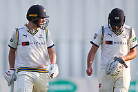 Picture by Alex Whitehead/SWpix.com - 21/04/2018 - Cricket - Specsavers County Championship Div One - Yorkshire v Nottinghamshire, Day 2 - Emerald Headingley Stadium, Leeds, England - Yorkshire's Gary Ballance (L) and Jack Leaning (R).