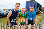 Gerald and Grainne Carroll and Padraig Regan from Kilmoyley at the Banna 5 and 10k race on Sunday morning.