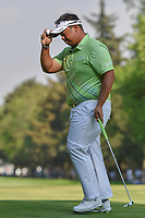 Kiradech Aphibarnrat (THA) reacts to sinking his putt on 18  during round 4 of the World Golf Championships, Mexico, Club De Golf Chapultepec, Mexico City, Mexico. 3/4/2018.<br /> Picture: Golffile | Ken Murray<br /> <br /> <br /> All photo usage must carry mandatory copyright credit (&copy; Golffile | Ken Murray)