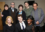 """Rebekah Brockman, Kaitlyn Davidson, Boyd Gaines, Jacob ben Widmar, Debra Monk, Corey Mach, Kimberly Marable and Will LeBow from  """"Mrs. Miller Does Her Thing""""  at the Signature Theatre on March 18, 2017 in Arlington, Virginia."""