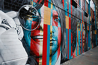 NOVA YORK, EUA - 30.11.2018 - ARTE-NOVA YORK - Mural Club 27 Mural Janis Joplin, Kurt Cobain, Jim Morrison, Jimi Hendrix and Amy Winehouse  do artista brasileiro Eduardo Kobra é visto na Ilha de Manhattan em Nova York (Foto Vanessa Carvalho / Brazil Photo Press)