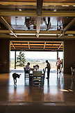 USA, Oregon, Willamette Valley, guests at the tasting room at Sotor Vineyards take a seat for a tasting, Carlton