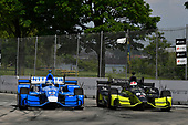 Verizon IndyCar Series<br /> Chevrolet Detroit Grand Prix Race 2<br /> Raceway at Belle Isle Park, Detroit, MI USA<br /> Sunday 4 June 2017<br /> Tony Kanaan, Chip Ganassi Racing Teams Honda, Charlie Kimball, Chip Ganassi Racing Teams Honda<br /> World Copyright: Scott R LePage<br /> LAT Images<br /> ref: Digital Image lepage-170604-DGP-9433