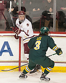 Ryan Fitzgerald (BC - 19), Mike Lee (UVM - 3) - The visiting University of Vermont Catamounts tied the Boston College Eagles 2-2 on Saturday, February 18, 2017, Boston College's senior night at Kelley Rink in Conte Forum in Chestnut Hill, Massachusetts.Vermont and BC tied 2-2 on Saturday, February 18, 2017, Boston College's senior night at Kelley Rink in Conte Forum in Chestnut Hill, Massachusetts.