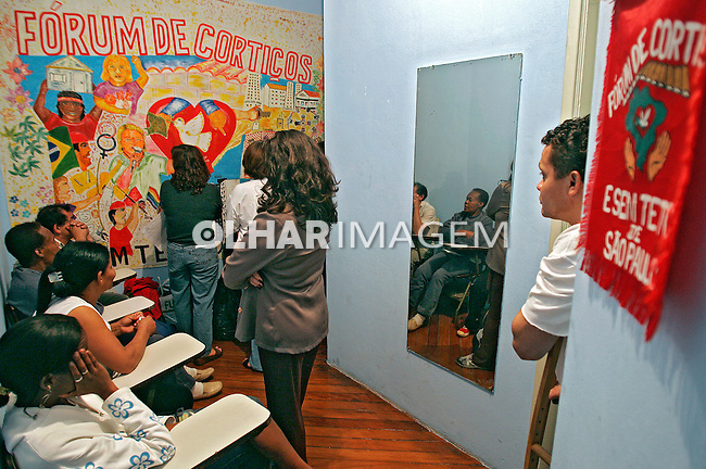 Reunião da Associação Forum de Cortiços e Sem-Teto. São Paulo. 2007. Foto de Caetano Barreira.