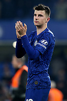 Chelsea's Mason Mount applauds the home fans at the final whistle during Chelsea vs Aston Villa, Premier League Football at Stamford Bridge on 4th December 2019