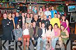 KEY TO THE DOOR: Gerald O'Shea, Killeen Woods, Tralee (seated centre) had a blast celebrating his 21st birthday in the Huddle bar, Strand Rd, Tralee last Friday night with many family and friends.