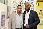 MIAMI, FL - DECEMBER 05: Actor Jimmy Jean-Louis (R) and Haiti Counsel General Stephane Gilles attends the NE2P Art Beat Miami Chef Creole Celebrity Brunch at the Little Haiti Cultural Center on Saturday December 05, 2015 in Doral, Florida.  ( Photo by Johnny Louis / jlnphotography.com )