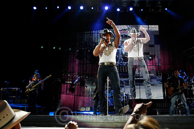 West Valley, UT --6/27/08--.Tim McGraw performs at the USANA Amphitheater Friday night..*************************...Photo by Chris Detrick/The Salt Lake Tribune.frame #_1CD6056.