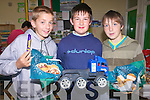 CAKE SALE: Pupils at Douglas National School, Killorglin, preparing for the sixth class toy and cake sale to raise money for charity were l-r: Michael Griffin, Mark Teahan and Darren Houlihan.