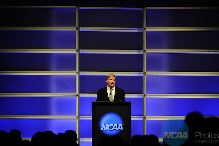 12 JAN 2012:  The NCAA Keynote Luncheon with the United States Secretary of Education Arne Duncan held at the JW Marriott and Indianapolis Convention Center in Indianapolis, IN.  Joshua Duplechian/NCAA Photos.Pictured: Mark Emmert