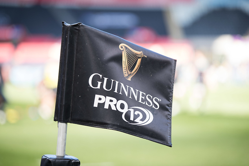 A general view of Liberty Stadium, home of Ospreys banner, flag<br /> <br /> Photographer Simon King/CameraSport<br /> <br /> Guinness PRO12 Round 19 - Ospreys v Leinster Rugby - Saturday 8th April 2017 - Liberty Stadium - Swansea<br /> <br /> World Copyright &copy; 2017 CameraSport. All rights reserved. 43 Linden Ave. Countesthorpe. Leicester. England. LE8 5PG - Tel: +44 (0) 116 277 4147 - admin@camerasport.com - www.camerasport.com