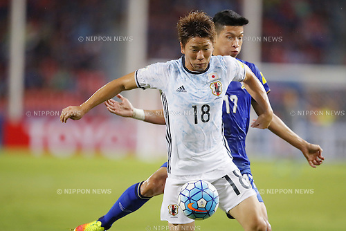 Takuma Asano (JPN), SEPTEMBER 6, 2016 - Football / Soccer : FIFA World Cup Russia 2018 Asian Qualifier Final Round Group B match between Thailand 0-2 Japan at Rajamangala National Stadium, Bangkok, Thailand. (Photo by Yusuke Nakanishi/AFLO SPORT)