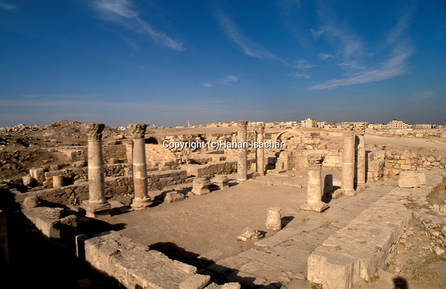 Jordan, Amman. Remains of a Byzantine Church from the 6th century on Citadel Hill&#xA;<br />
