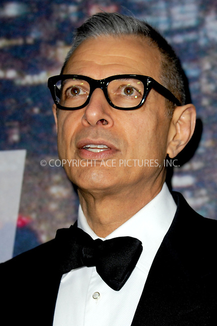 WWW.ACEPIXS.COM<br /> February 15, 2015 New York City<br /> <br /> Jeff Goldblum walking the red carpet at the SNL 40th Anniversary Special at 30 Rockefeller Plaza on February 15, 2015 in New York City.<br /> <br /> Please byline: Kristin Callahan/AcePictures<br /> <br /> ACEPIXS.COM<br /> <br /> Tel: (646) 769 0430<br /> e-mail: info@acepixs.com<br /> web: http://www.acepixs.com