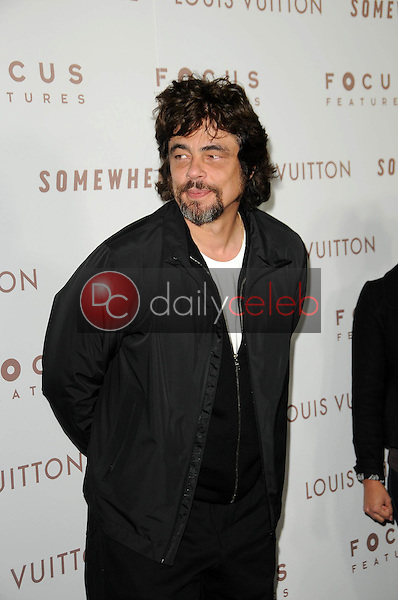 """Benicio Del Toro<br /> at the Premiere Of Focus Features' """"Somewhere,"""" Arclight Theater, Hollywod, CA. 12-07-10<br /> David Edwards/DailyCeleb.com 818-249-4998"""