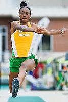Brianna Richardson competes in triple jump during Baylor Invitational track meet, Friday, April 03, 2015 in Waco, Tex. (Mo Khursheed/TFV Media via AP Images)