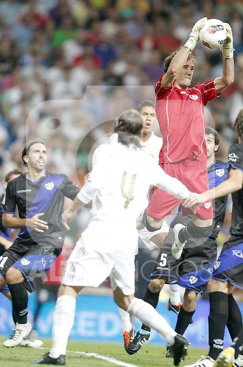 Rayo Vallecano's Dani Gimenez during La Liga Match. September 24, 2011. (ALTERPHOTOS/Alvaro Hernandez)