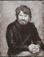 BNPS.co.uk (01202 558833)<br /> Pic: WebbsOfWilton/BNPS<br /> <br /> Self portrait of Hebborn.<br /> <br /> Drawings and paintings by one of the world's most colourful and notorious art forgers, including a sketch that duped a top auctionhouse, are up for sale.<br /> <br /> Master forger Eric Hebborn fooled art dealers, galleries and auction houses worldwide with his work in the style of old masters, and many of his works which were sold as originals still hang in museums and galleries.<br /> <br /> Hugely talented Hebborn could mimic the style's of many of the world's most famous artist's, and the auction contains works 'After' Michelangelo, Rembrandt, Claude, Augustus John and Bandinelli.<br /> <br /> His paintings are being auctioned by Webbs of Wilton in Wiltshire on Wednesday, as well as manuscripts and books on the art of forging.