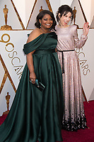 Oscar&reg; nominees Octavia Spencer and Sally Hawkins arrive on the red carpet of The 90th Oscars&reg; at the Dolby&reg; Theatre in Hollywood, CA on Sunday, March 4, 2018.<br /> *Editorial Use Only*<br /> CAP/PLF/AMPAS<br /> Supplied by Capital Pictures