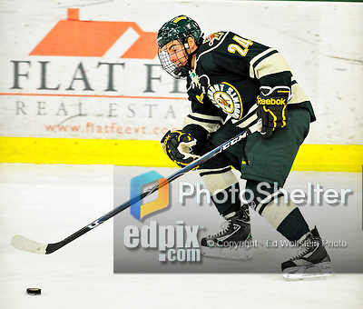 12 November 2010: University of Vermont Catamount forward Tobias Nilsson-Roos, a Sophomore from Malmo, Sweden, in action against the Boston College Eagles at Gutterson Fieldhouse in Burlington, Vermont. The Eagles edged out the Cats 3-2 in the first game of their weekend series. Mandatory Credit: Ed Wolfstein Photo
