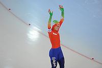 SCHAATSEN: HAMAR: Vikingskipet, 11-01-2014, Essent ISU European Championship Allround, 500m Ladies, Ireen Wüst (NED), ©foto Martin de Jong